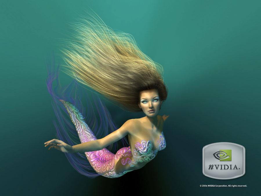 Nalu - die Meerjungfrau von nVidia