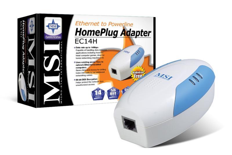 MSI EC14H HomePlug-Adapter