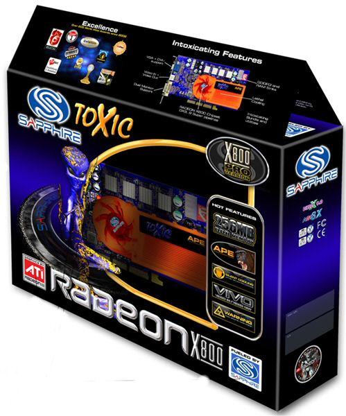 Sapphire Toxic Radeon X800 Pro Box