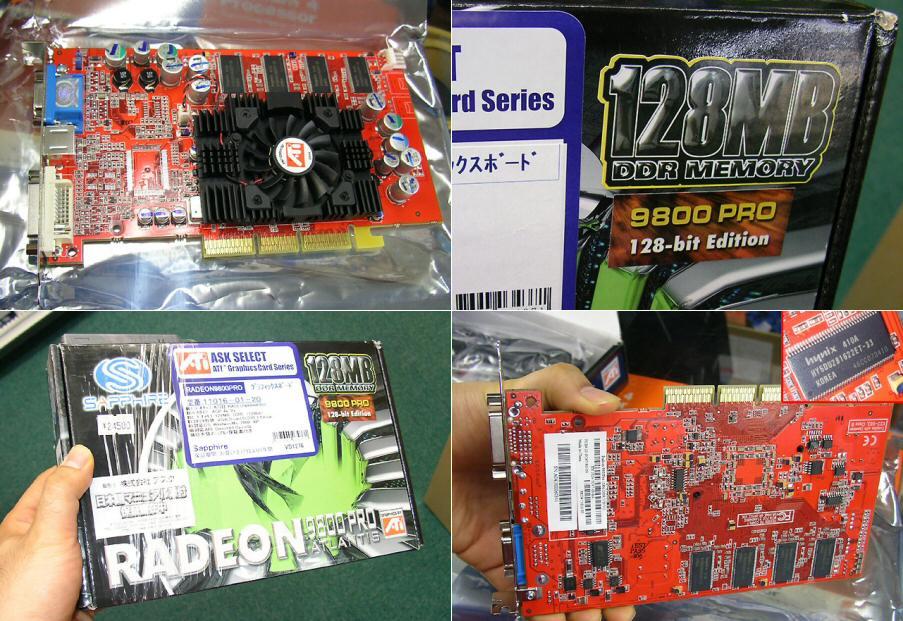 Sapphire Radeon 9800 Pro 128MB 128bit Edition in Japan