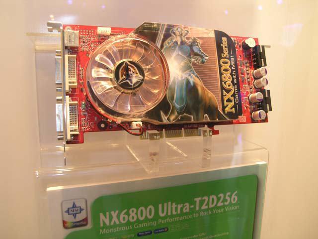 MSI NX6800U-T2D256 auf der Computex