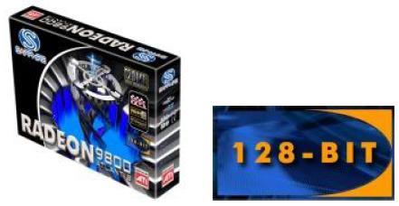 Sapphire Radeon 9800 128MB 128bit ohne Pro und mit großem Sticker