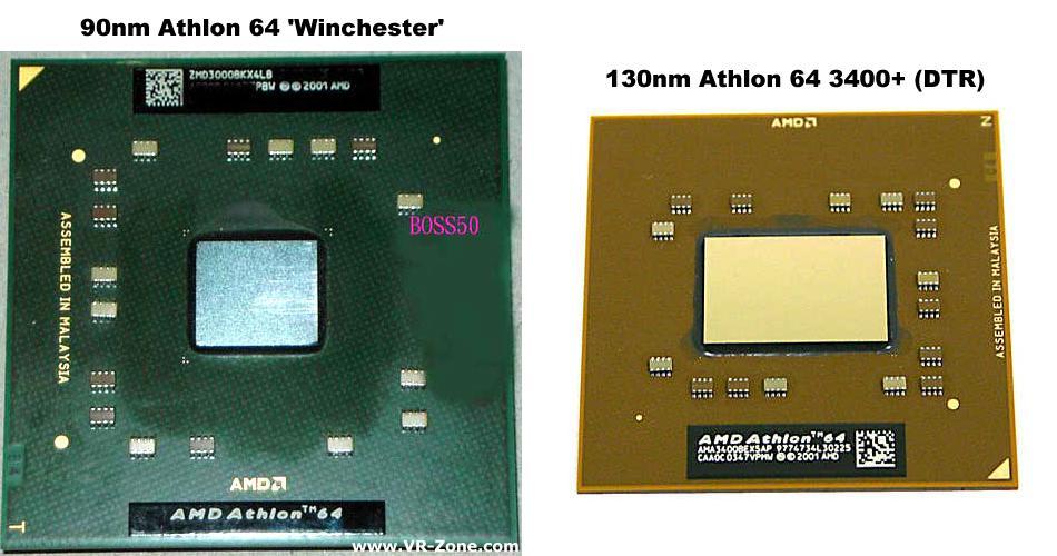 AMD Athlon 64 Modelle im Vergleich (DTR = Desktop Replacement)