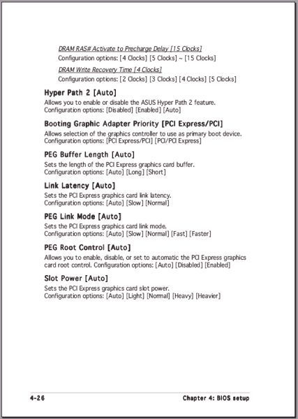 Auszug aus dem Handbuch des ASUS P5AD2 Premium