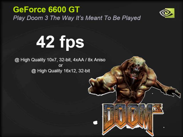 GeForce 6600 GT bei Doom 3