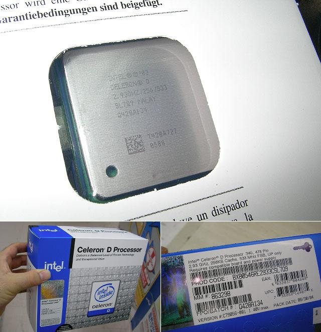 Intel Celeron D 340 in Japan im Handel