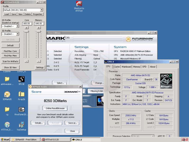3DMark05 Ergebnis auf von macci übertaktetem System