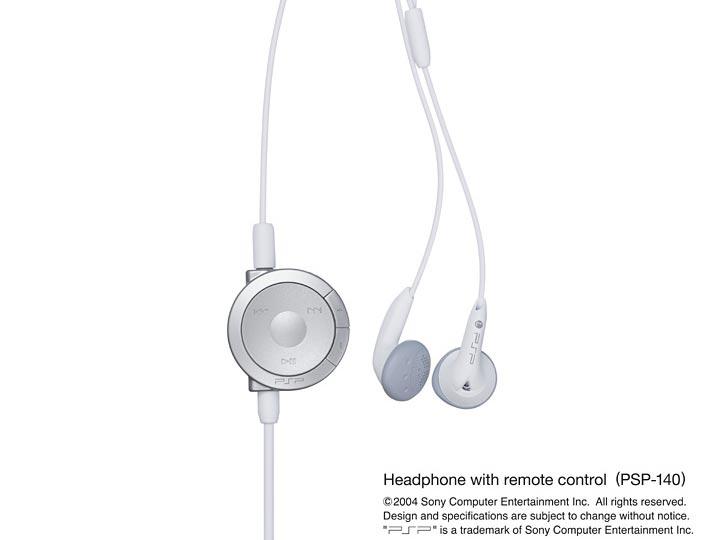 PSP Kopfhörer mit Fernbedienung
