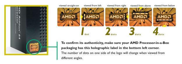 Hologramm zeigt unterschiedliche Anzahl Punkte - abhängig vom Blickwinkel