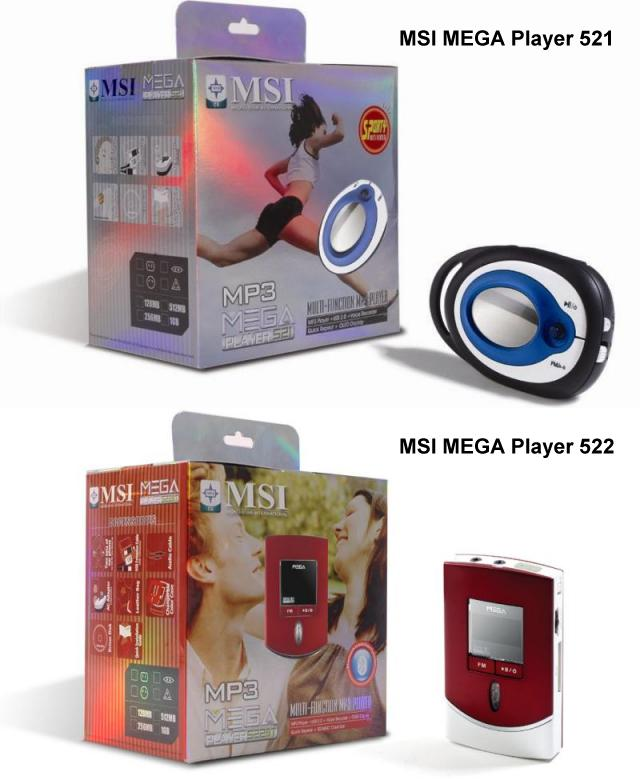 MSI MEGA Player 521 und 522