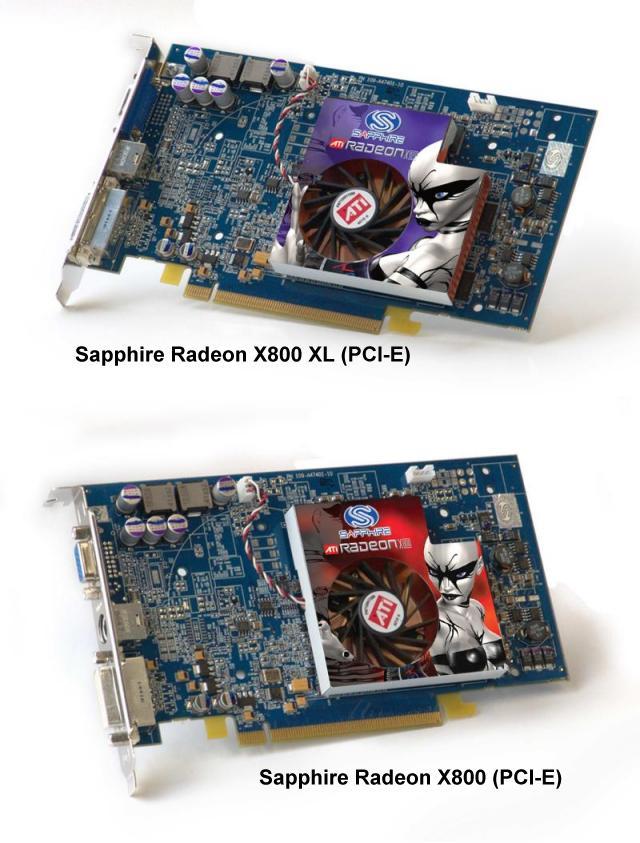 Sapphire Radeon X800 und X800 XL