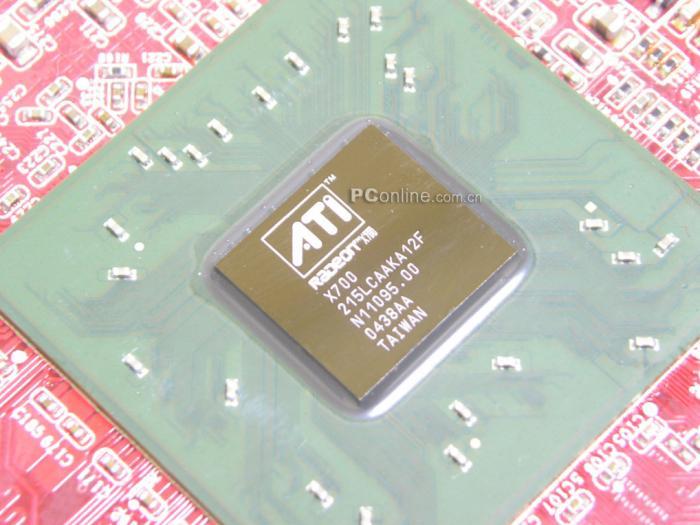 RV410 Grafikchip der ATI Radeon X700 AGP