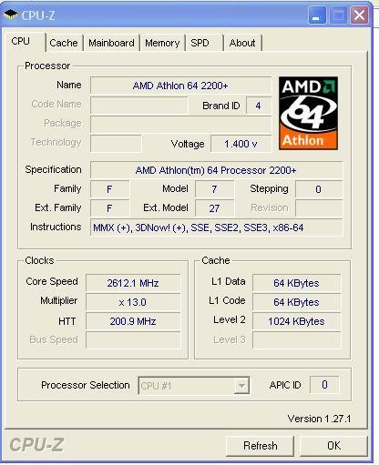 Athlon 64 4200+ CPU-Infos?