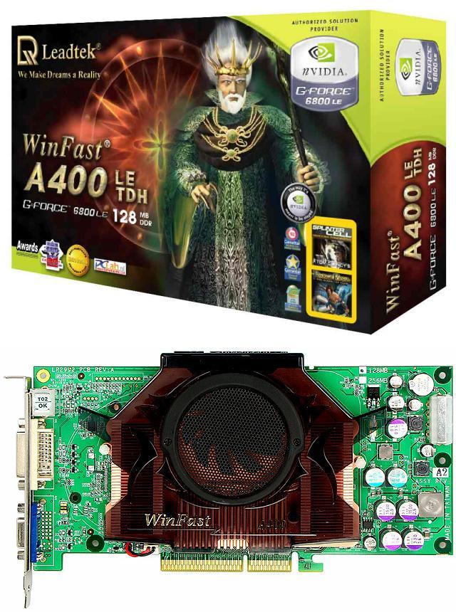Leadtek WinFast A400LE TDH 128MB (6800 LE)