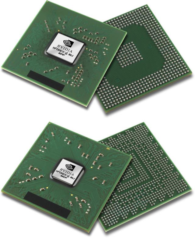 nForce4 SLI SPP und MCP (North- und Southbridge)