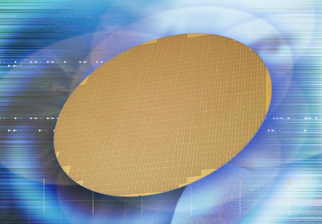 Wafer mit 90nm Chips
