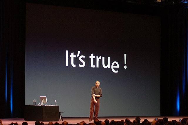 Steve Jobs bestätigt das Gerücht: Es ist wahr!