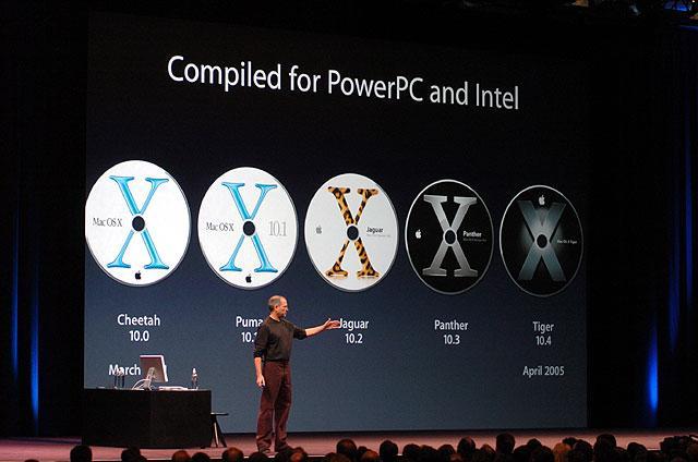 Mac OS X wurde bei Apple schon auf Intel entwickelt
