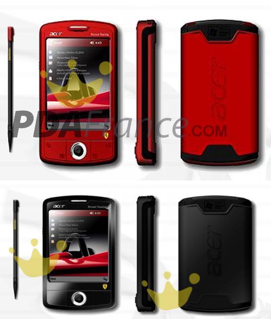 Acer Ferrari PDA in Rot und Schwarz (Bilder von PDAfrance.com)