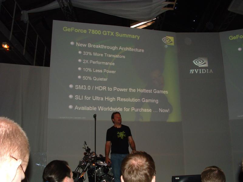 nVidia Vice President Dan Vivoli stellt die GeForce 7800 GTX vor