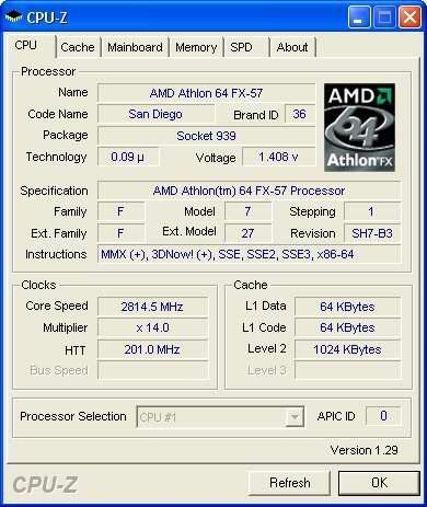 Spezifikationen des AMD Athlon 64 FX-57