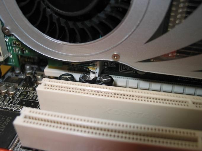 GeForce 7800 GTX und der zweite PEG-Slot auf einem MSI K8N SLI Mainboard