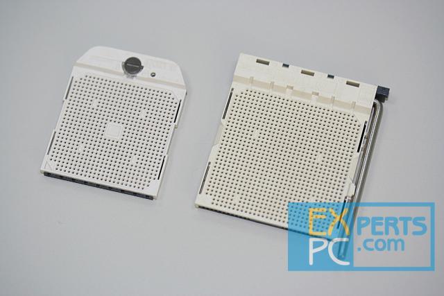 AMD Sockel-S1 (links) und Sockel-M2 (rechts, für Athlon 64 und Sempron)