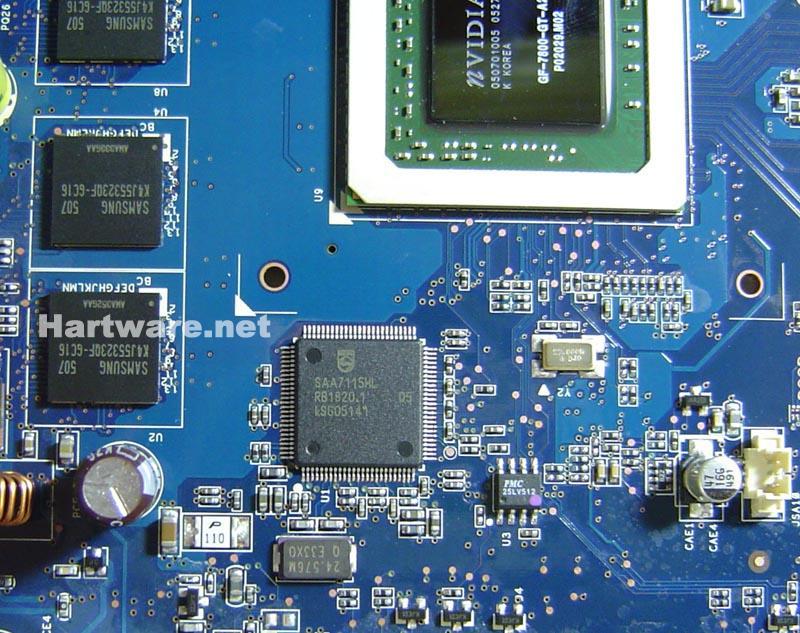 ASUS EN7800GT Dual: TV-Chip und Speicherbausteine