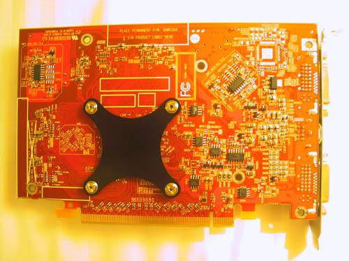 MSI Radeon X1600 XT Rückseite