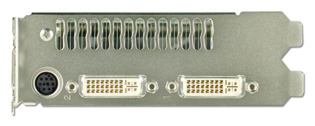 Slotblech mit Luftauslass, zwei DVI-Ports und Video-In/Out