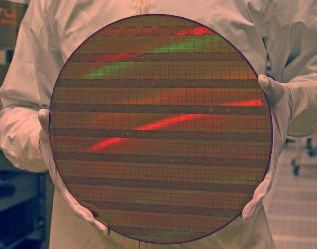 Wafer mit 45nm SRAM-Chips