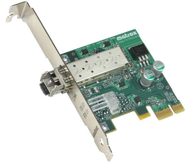 PCIe Karte zum Anschluss der Matrox Extio F1400 über Glasfaser