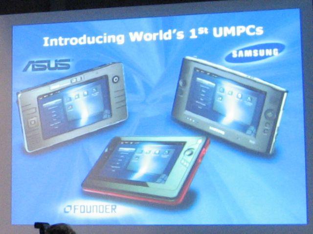 Erste UMPCs