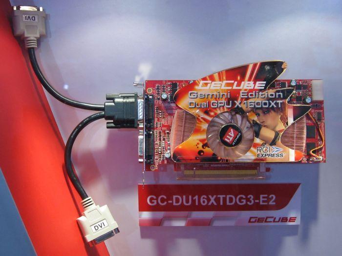 GeCube Dual-Chip Radeon X1600 XT auf der CeBIT