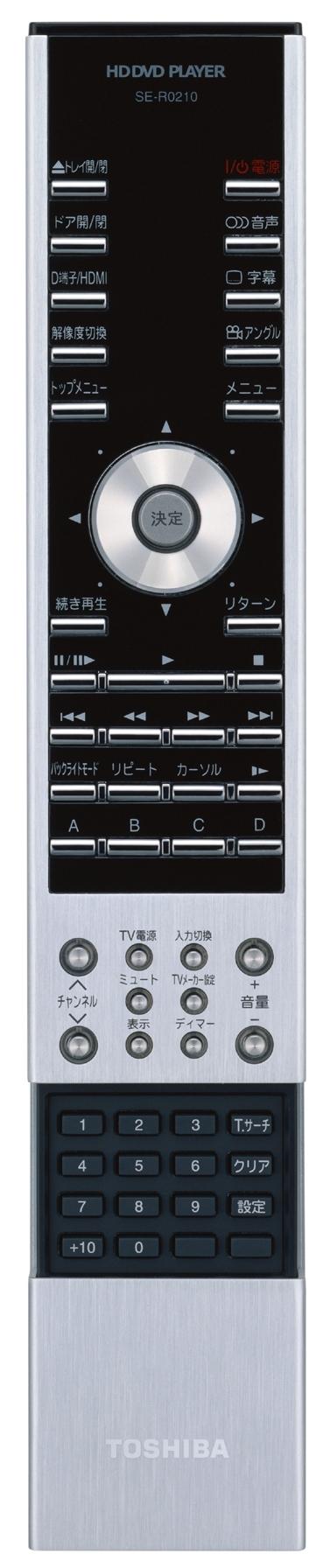Fernbedienung des Toshiba HD-AX1