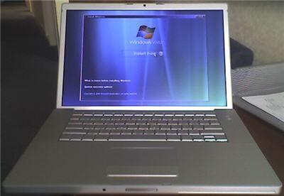 Windows Vista Installation auf einem Apple MacBook Pro