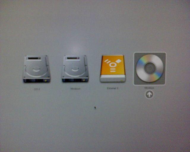 Boot-Optionen mit Start von CD