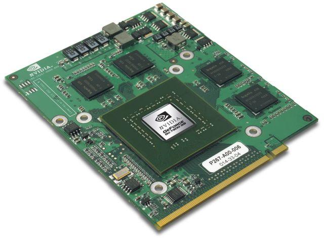 nVidia GeForce Go 7900 GS auf MXM Grafikmodul