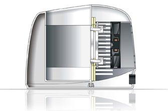 Funktionsweise: Kühlung per integriertem Lüfter