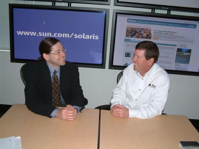 Neuer und alter Sun-CEO: Jonathan Schwartz und Scott McNealy