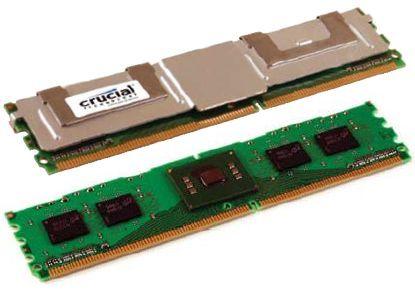 Crucial FBDIMM mit und ohne Heatspreader