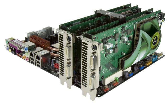 2 x GeForce 7950 GX2 = Quad-SLI