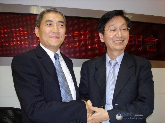 Dandy Yeh (Gigabyte, links) und Johnny Shih (ASUS, rechts) - Bild von HKEPC