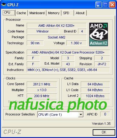 AMD Athlon 64 X2 5200+ CPU-Infos