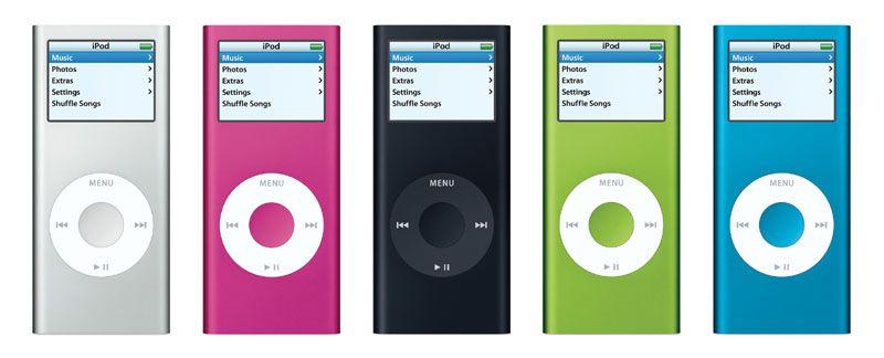 iPod nano in verschiedenen Farben