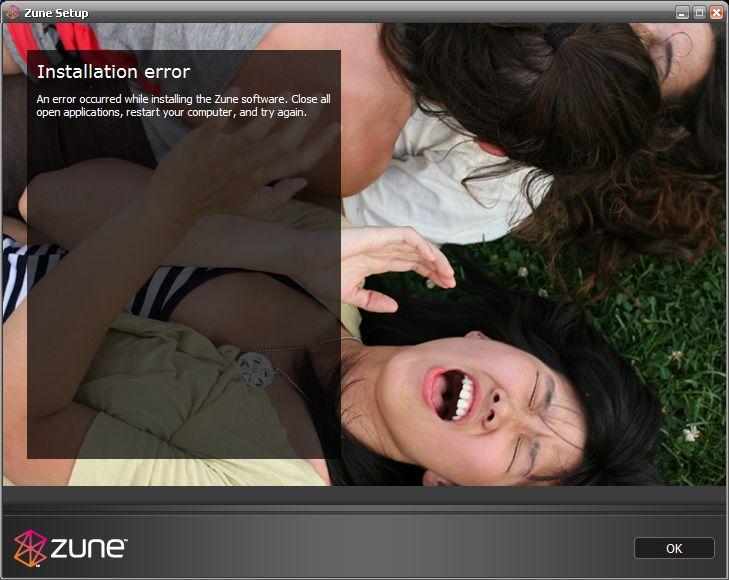 Microsoft Zune: Fehler bei der Installation