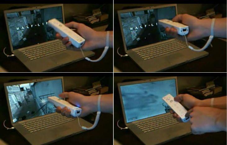 Half-Life 2 auf Notebook mit Wii Controller