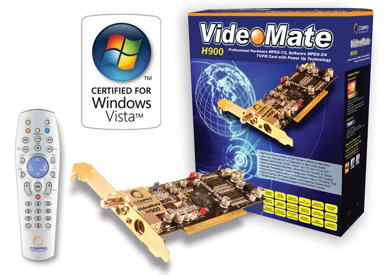 Compro VideoMate H900 TV PCI Tuner card Drivers for Windows Mac