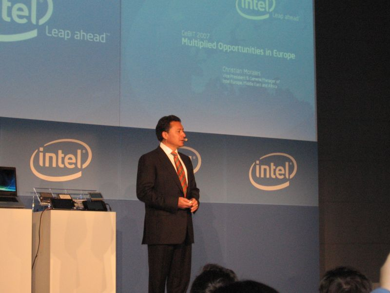 Christian Morales bei der Präsentation