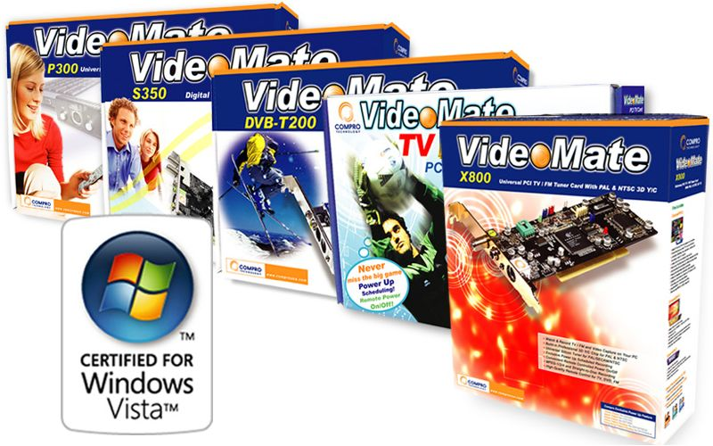 Compro VideoMate M X T P S Series TV And Capture Card